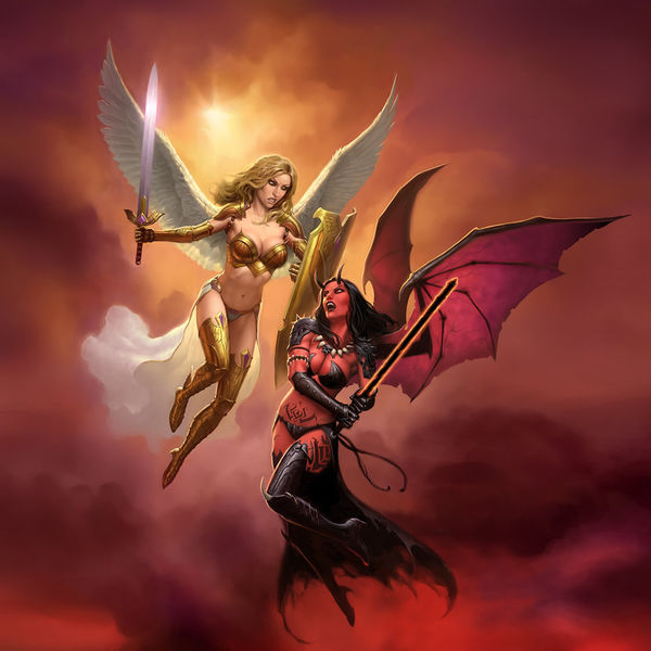 Angel Vs Demon By James Ryman Decalgirl