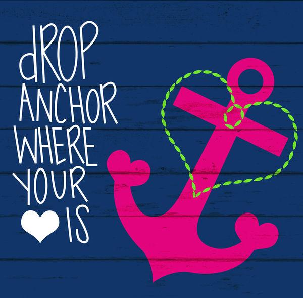 Blue Anchor Wal... Light Blue Anchor Wallpaper