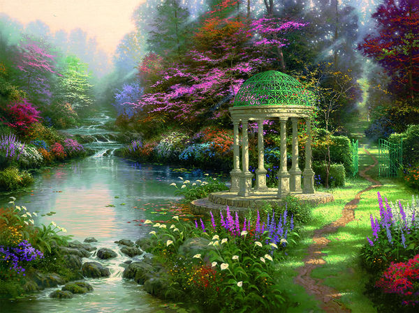 Garden Of Prayer By Thomas Kinkade Decalgirl