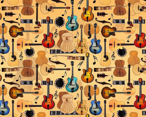 Guitar Collage By Dan Morris Decalgirl