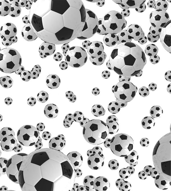 Lots Of Soccer Balls By Sports Decalgirl