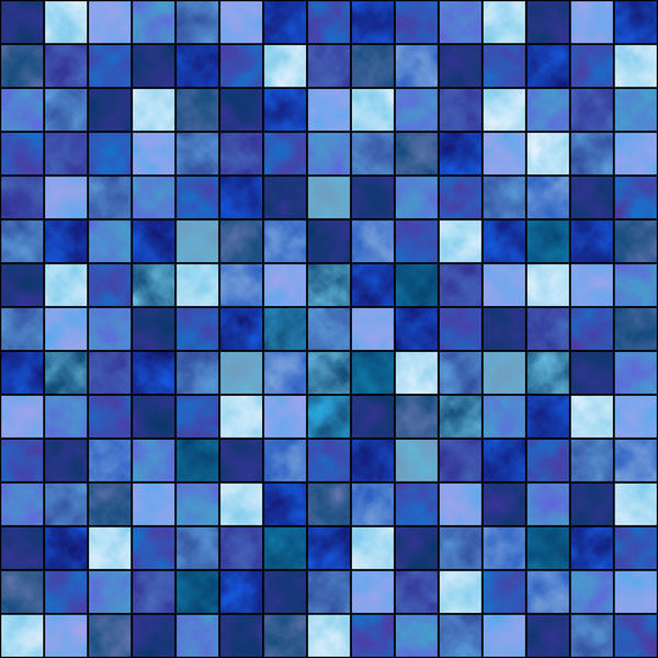 blue mosaic by fp