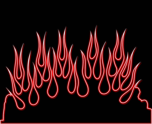 Red Neon Flames Decalgirl