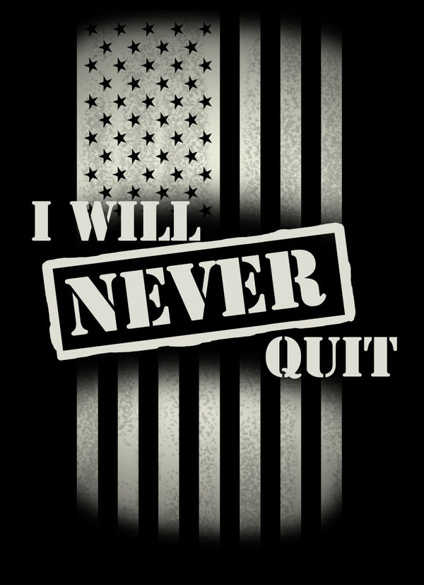 Never Quit By Us Army Decalgirl