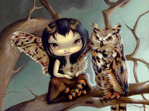 Owlyn by Jasmine Becket Griffith DecalGirl