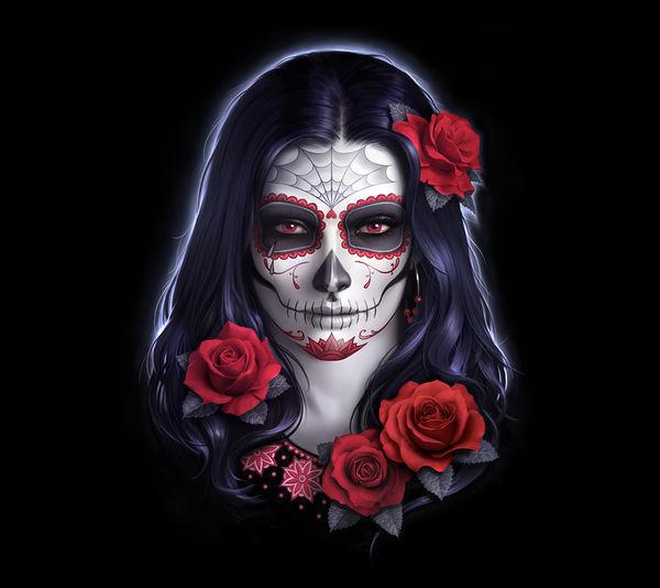 Sugar Skull Rose By James Ryman Decalgirl