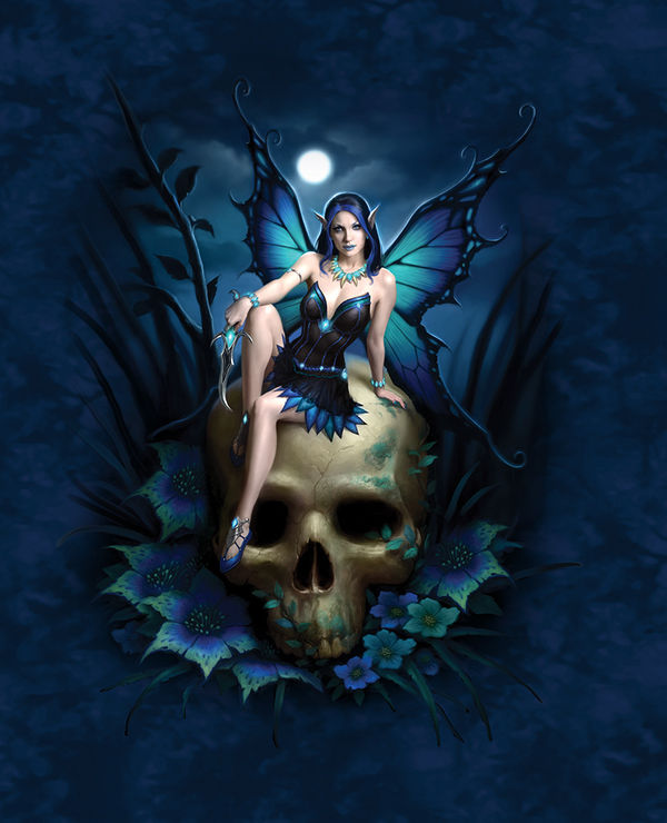 Skull fairy by james ryman decalgirl for Skull fairy tattoos