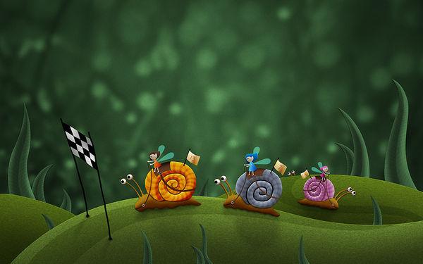 Snail Race by Vlad Studio | DecalGirl