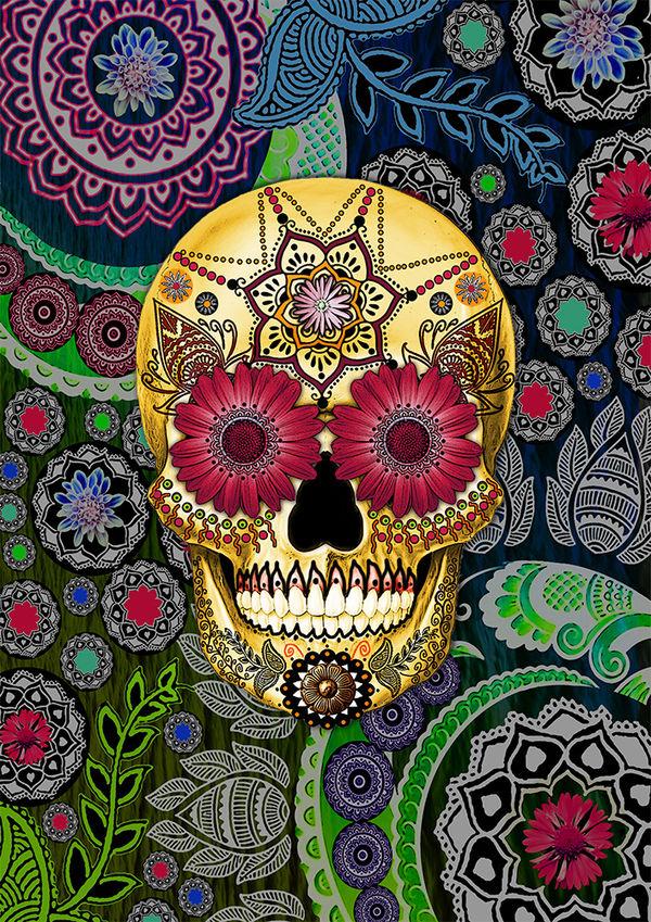 Fusion Idol Sugar Skull Paisley
