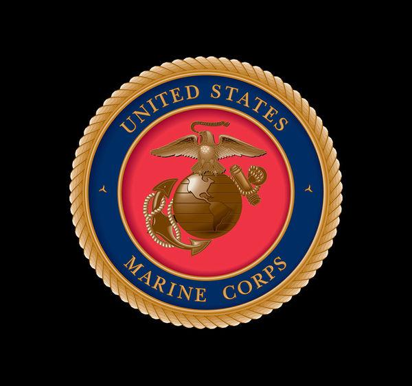 usmc black by us marine corps decalgirl