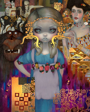 Alice in a Klimt Dream