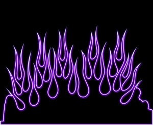 Purple Neon Flames