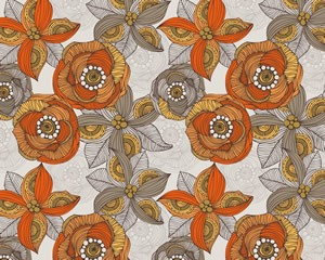 Orange and Grey Flowers