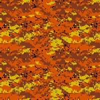 Digital Orange Camo