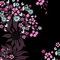 Alex eReader Skin - Dark Flowers