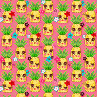 Happy Kawaii Pineapples