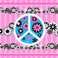 Peace Flowers Pink