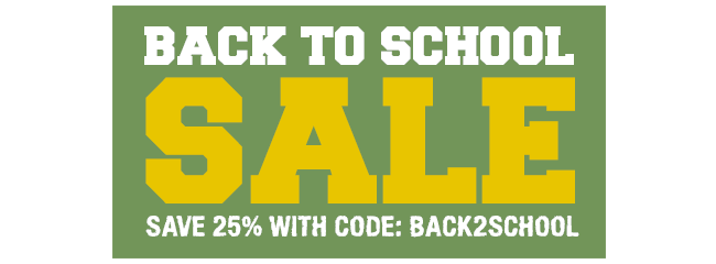 Back To School Sale - Shop Now