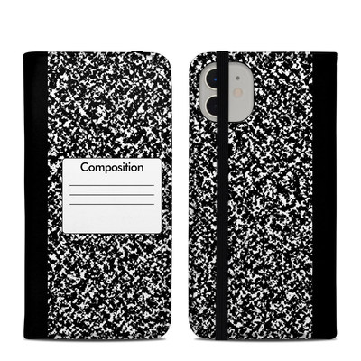 Apple iPhone 11 Folio Case - Composition Notebook