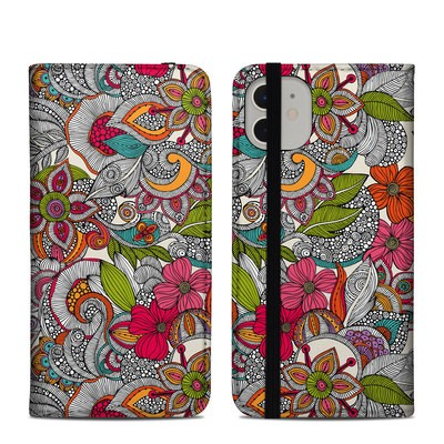 Apple iPhone 11 Folio Case - Doodles Color