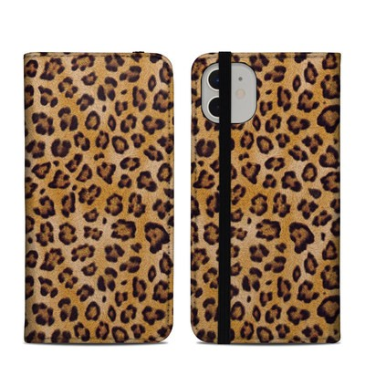 Apple iPhone 11 Folio Case - Leopard Spots