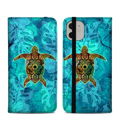Apple iPhone 11 Folio Case - Sacred Honu