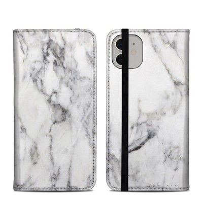 Apple iPhone 11 Folio Case - White Marble