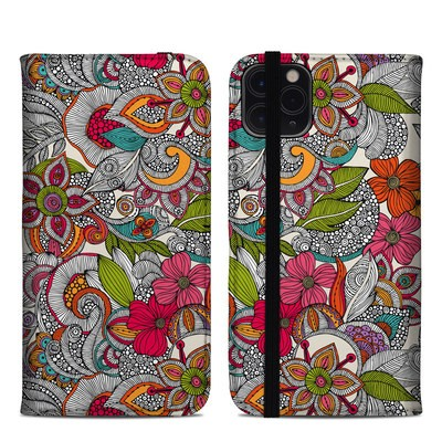 Apple iPhone 11 Pro Max Folio Case - Doodles Color