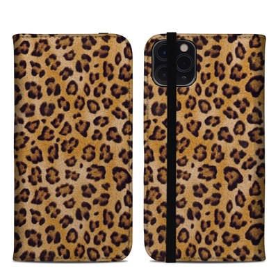 Apple iPhone 11 Pro Max Folio Case - Leopard Spots