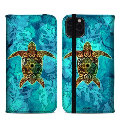 Apple iPhone 11 Pro Max Folio Case - Sacred Honu