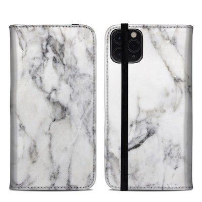 Apple iPhone 11 Pro Max Folio Case - White Marble