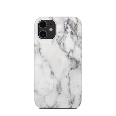 Apple iPhone 12 Mini Clip Case - White Marble