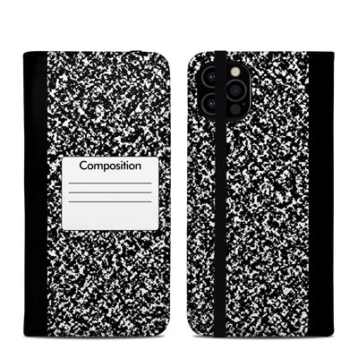 Apple iPhone 12 Pro Folio Case - Composition Notebook
