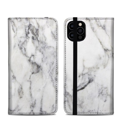 Apple iPhone 12 Pro Folio Case - White Marble