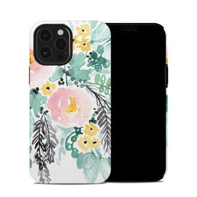 Apple iPhone 12 Pro Max Hybrid Case - Blushed Flowers