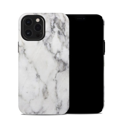 Apple iPhone 12 Pro Max Hybrid Case - White Marble