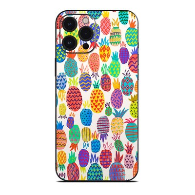 Apple iPhone 12 Pro Max Skin - Colorful Pineapples