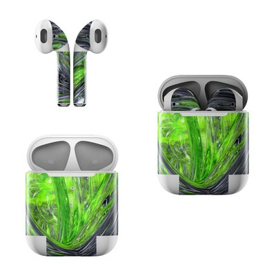 Apple AirPods Skin - Emerald Abstract