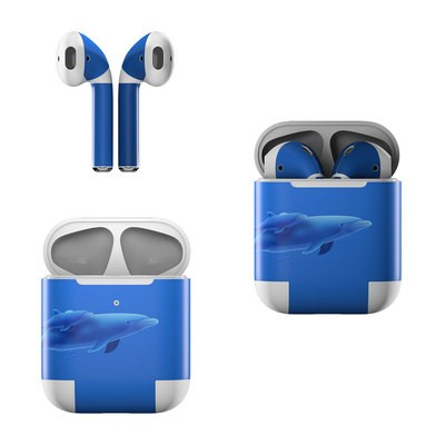 Apple AirPods Skin - Blue Dolphins