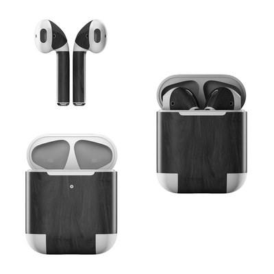 Apple Air Pods Skin - Black Woodgrain