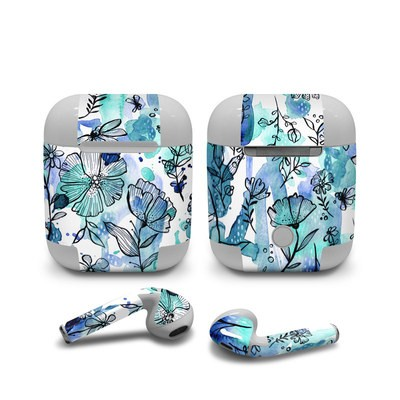 Apple AirPods Skin - Blue Ink Floral