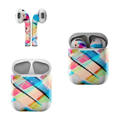 Apple Air Pods Skin - Check Stripe