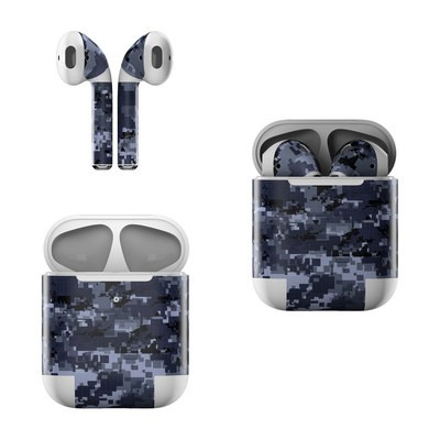 Apple AirPods Skin - Digital Navy Camo