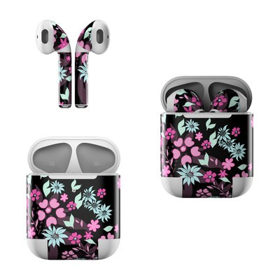Apple AirPods Skin - Dark Flowers