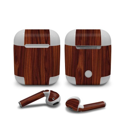 Apple Air Pods Skin - Dark Rosewood