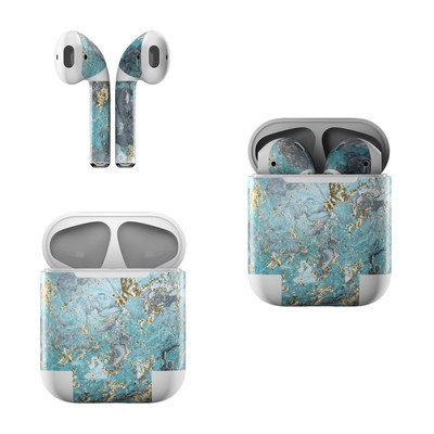 Apple AirPods Skin - Gilded Glacier Marble