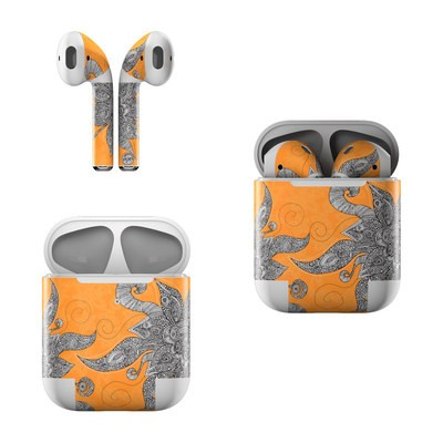 Apple AirPods Skin - Orange Flowers