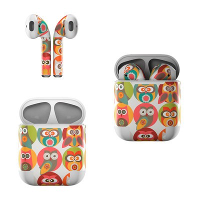 Apple Air Pods Skin - Owls Family