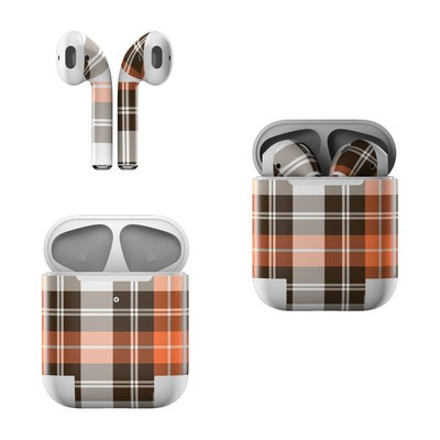 Apple AirPods Skin - Copper Plaid