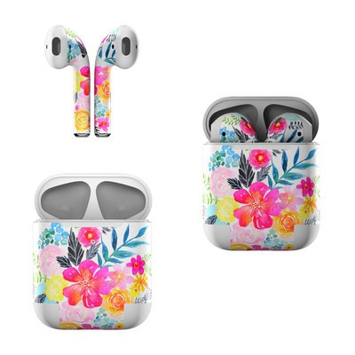 Apple Air Pods Skin - Pink Bouquet